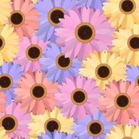 Gerbera Seamless Pattern Floral Background vector