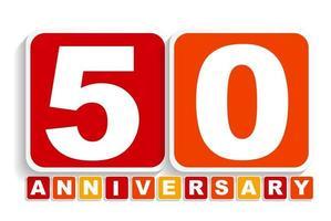 cincuenta 50 años signo de etiqueta de aniversario para su fecha. ilustración vectorial vector