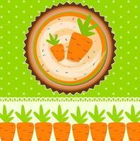 Carrot Cake Background Vector Illustration