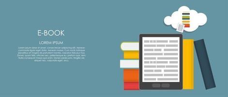 E-Book Vector illustration. Flat computing background
