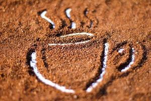 Grade A plus mark on cocoa powder photo