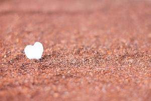 Paper Heart in cocoa powder photo