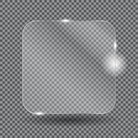 marcos de vidrio realistas. ilustración vectorial vector