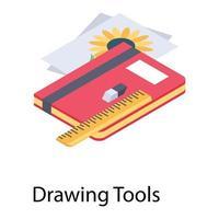 Drawing Tools Concepts vector