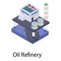 Oil Refinery Plant vector