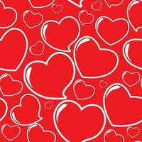 Heart Seamless Pattern Vector Illustration