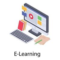 E Learning Concepts vector