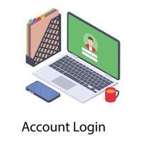 Online Account Login vector