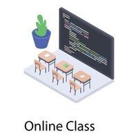 Virtual Classroom Concepts vector