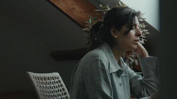 Woman having video call on laptop