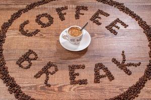 Dark Coffe Break Wallpaper photo