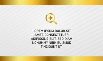 Modern Golden White Presentation Background With Stripes vector