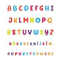 Colorful Cartoon Alphabet Letters A to Z vector