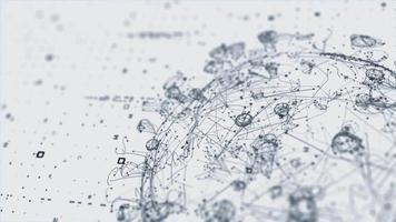 animatie wetenschap 3d toekomst genetische gezondheid virus corona 3d concept video hd