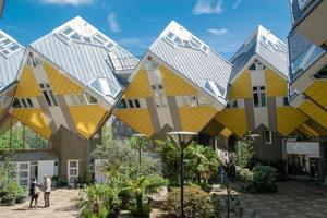 View of the Cubic Houses in Rotterdam, on May 11, 2018 photo