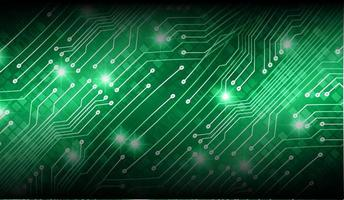 Printcyber circuit future technology concept background vector
