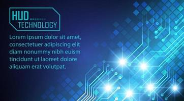 text cyber circuit future technology concept background vector