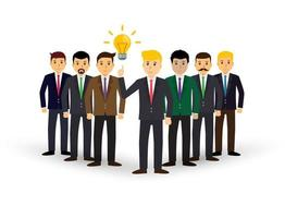 Project teamwork concept illustration of business people working together as team. businessman vector