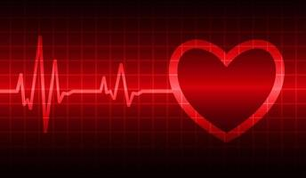 Heart pulse monitor with signal. Heart beat. EKG icon wave vector