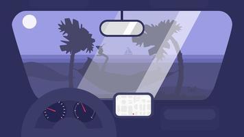 Summer Travel in Car vector