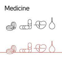 conjunto de iconos de medicina vector