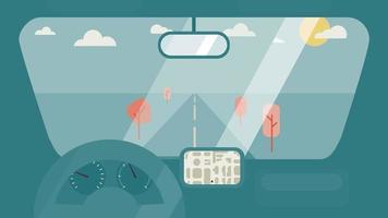 Inside car interior vector