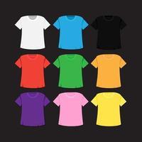 T-shirt template and mockup vector