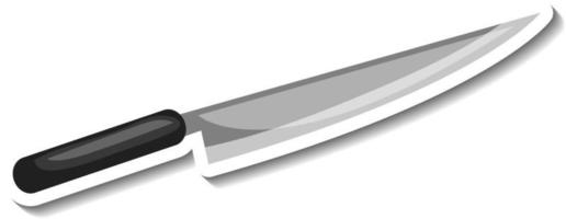 Sticker template with a knife isolated vector