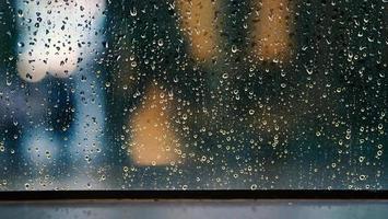 Window and rain drops photo