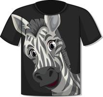 Front of t-shirt with zebra template vector