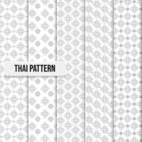 Set of Thai pattern traditional concept illustration vector