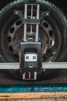 Sensor for adjusting car alignment photo