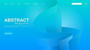 Abstract Blue Curve Background. Landing Page Background. Vector EPS 10