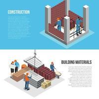 Building Horizontal Banners Set Vector Illustration