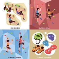 Climbing Gym Design Concept Vector Illustration