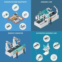 Assembly Line Design Concept Vector Illustration