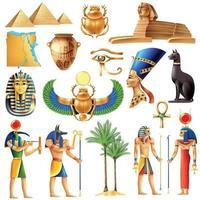 Egypt Symbols Set Vector Illustration