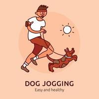 Pet Jogging Poster Vector Illustration