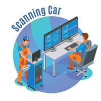 Auto Scanning Background Vector Illustration