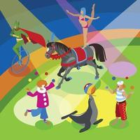 Performers And Entertainment Composition Vector Illustration