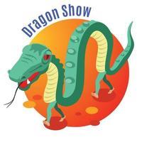 Dragon Show Background Vector Illustration