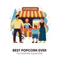 Popcorn Van Illustration Vector Illustration