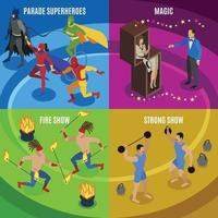 Performers And Entertainment Concept Icons Set Vector Illustration