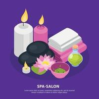 Spa Salon Isometric Background Vector Illustration