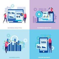 Business Analytics Flat Design Concept Vector Illustration