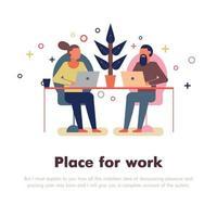 Coworking People Illustration Vector Illustration