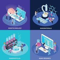 Nano Technology Isometric Design Concept Vector Illustration