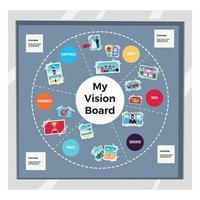 Dreams Vision Board Infographic Set Vector Illustration