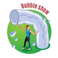 Bubble Show Background Vector Illustration