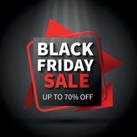 Black Friday Poster Vector Illustration